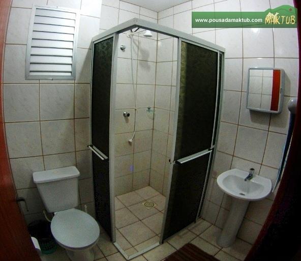 Banheiro dos apartamentos de um quarto